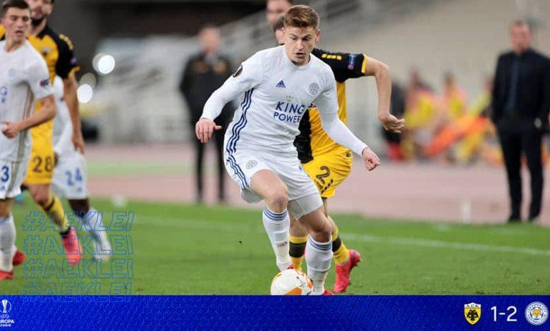 صورة ملخص أهداف مباراة ليستر سيتي و آيك أثينا (2-1) فى الدوري الاوروبي