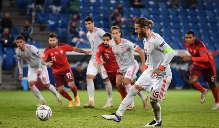 صورة أهداف مباراة إسبانيا و سويسرا (1-1) اليوم في دوري الأمم الأوروبية .