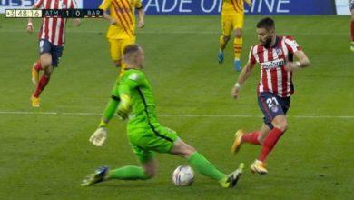 صورة أهداف مباراة برشلونة و أتلتيكو مدريد (0-1) اليوم في الدوري الإسباني