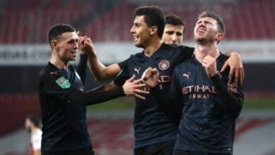 صورة أهداف مباراة ارسنال ومانشستر سيتي (1-4) اليوم في كأس رابطة المحترفين الإنجليزية