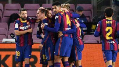 صورة أهداف مباراة برشلونة وليفانتي (1-0) اليوم في الدوري الاسباني