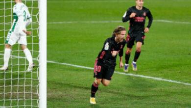 صورة أهداف مباراة ريال مدريد وإلتشي (1-1) اليوم في الدوري الاسباني