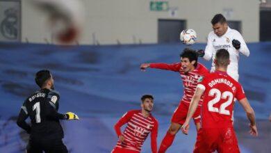 صورة أهداف مباراة ريال مدريد وغرناطة (2-0) اليوم في الدوري الاسباني