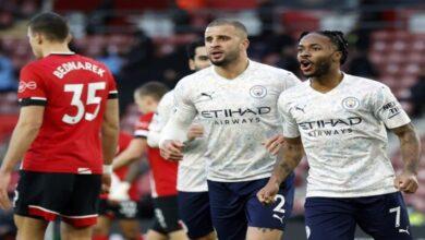 صورة أهداف مباراة مانشستر سيتي وساوثهامتون(1-0) اليوم