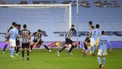 صورة أهداف مباراة مانشستر سيتي ونيوكاسل يونايتد (2-0) اليوم في الدوري الانجليزي