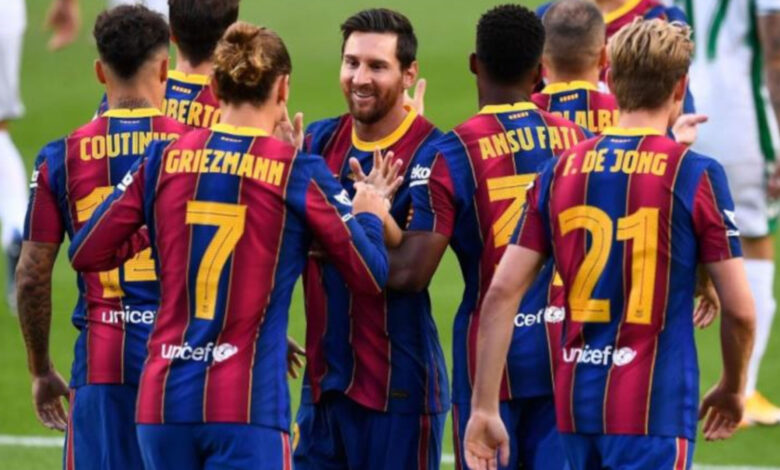 تشكيل برشلونة اليوم لمباراة إيبار فى الدورى الإسبانى