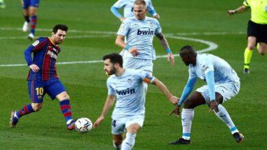 صورة نتيجة مباراة برشلونة وفالنسيا اليوم