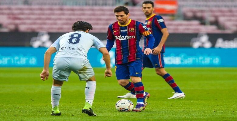 برشلونة يتعادل مع فالنسيا بالليجا وميسي يعادل بيليه