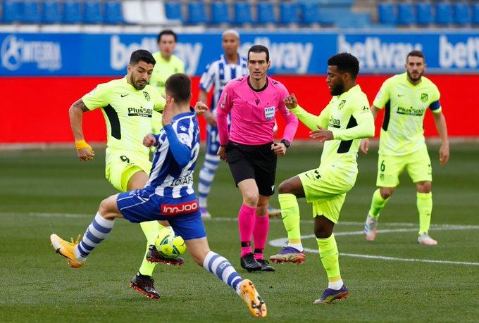 صورة أهداف مباراة أتلتيكو مدريد وديبورتيفو ألافيس (2-1) اليوم في الدوري الاسباني