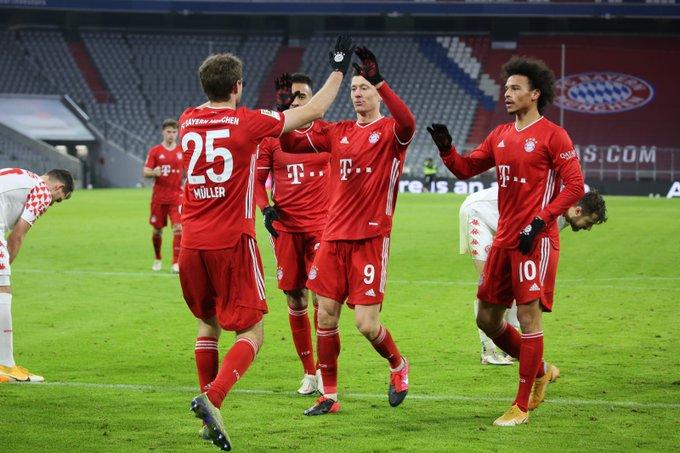 صورة أهداف مباراة بايرن ميونيخ وماينز (5-2) اليوم في الدوري الألماني