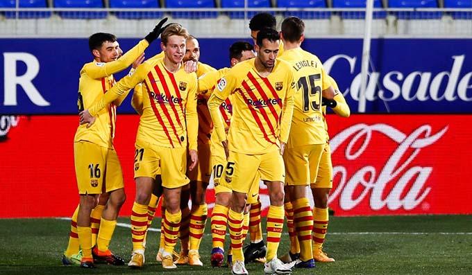 صورة أهداف مباراة برشلونة وهويسكا (1-0) اليوم في الدوري الاسباني