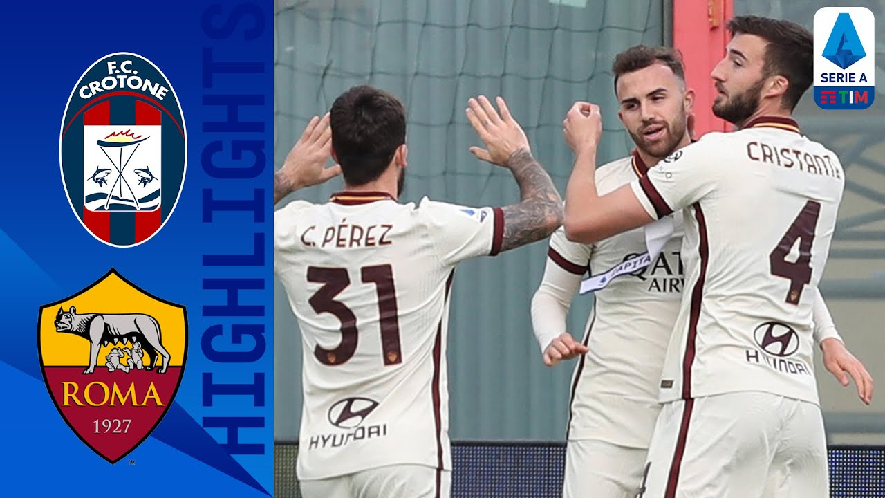 صورة أهداف مباراة روما وكروتوني (3-1) اليوم في الدوري الإيطالي