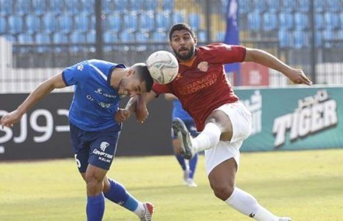 سموحة يتعادل سلبيأ امام سيراميكا بالدوري المصري