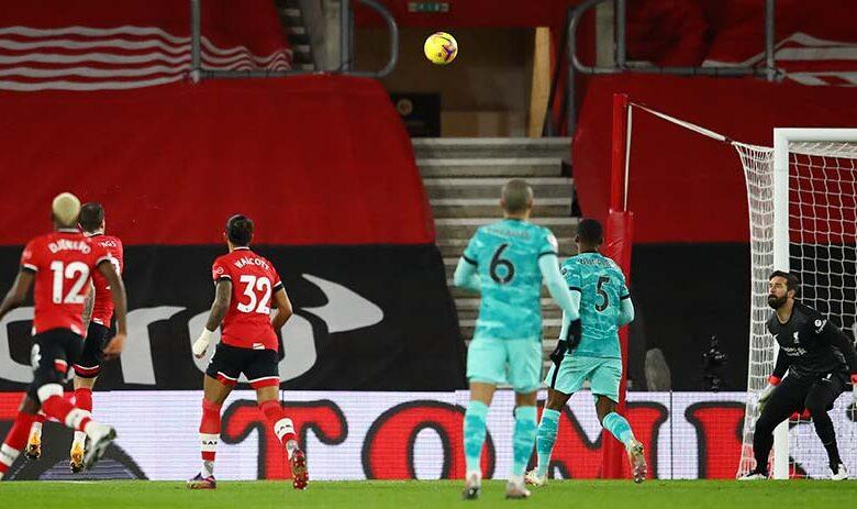 ليفربول يسقط امام ساوثهامتون خارج ارضه